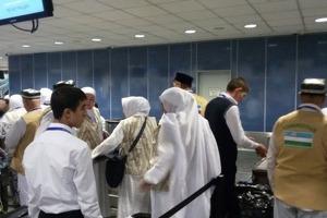 Первая группа паломников отправилась в Медину из городов Узбекистана